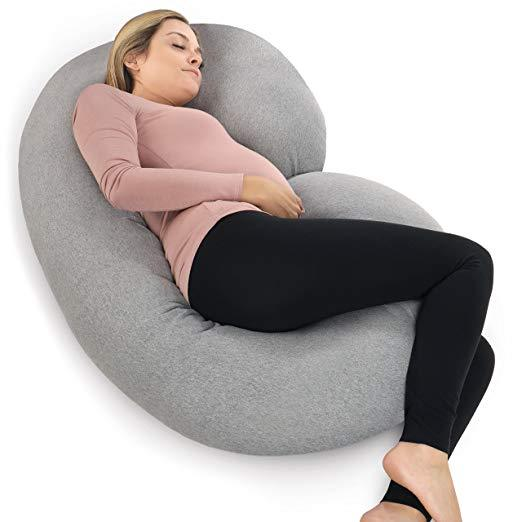 C-Shaped Maternity Body Pillow - Best Pregnancy Pillow for back pain
