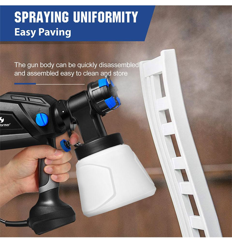 Electric Home Paint Sprayer Gun with 4 Nozzle/1000ml Cup