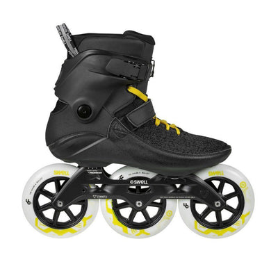 Powerslide Swell Black City 125mm 3 Wheel Inline Fitness Speed Skates