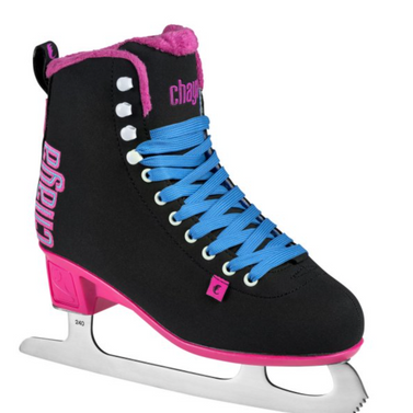 Chaya Ice Skates - Classic Black and Pink