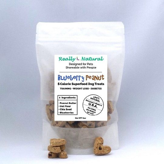 1/2 lb, 5 Calorie SuperFood Dog Treats: Blueberry Peanut + Free Shipping