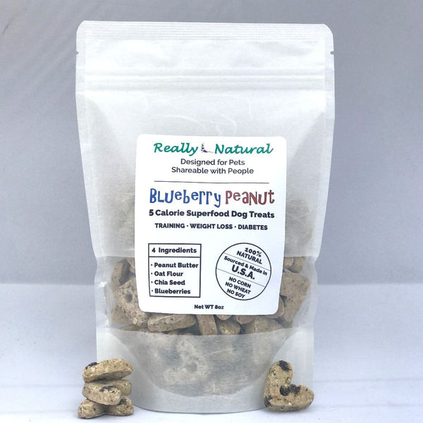 5 Calorie SuperFood Dog Treats: Blueberry Peanut, 1/2 lb, Price includes Shipping