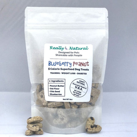 5 Calorie SuperFood Dog Treats: Blueberry Peanut, 1/2 lb + Free Shipping
