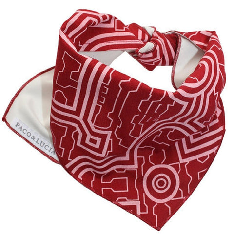 "Shipibo ""Red Moon"" Design Bandana for Pets & People"