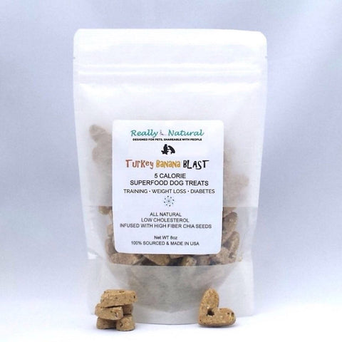 Low Calorie Dog Treats: Turkey Banana, No Corn Wheat Soy
