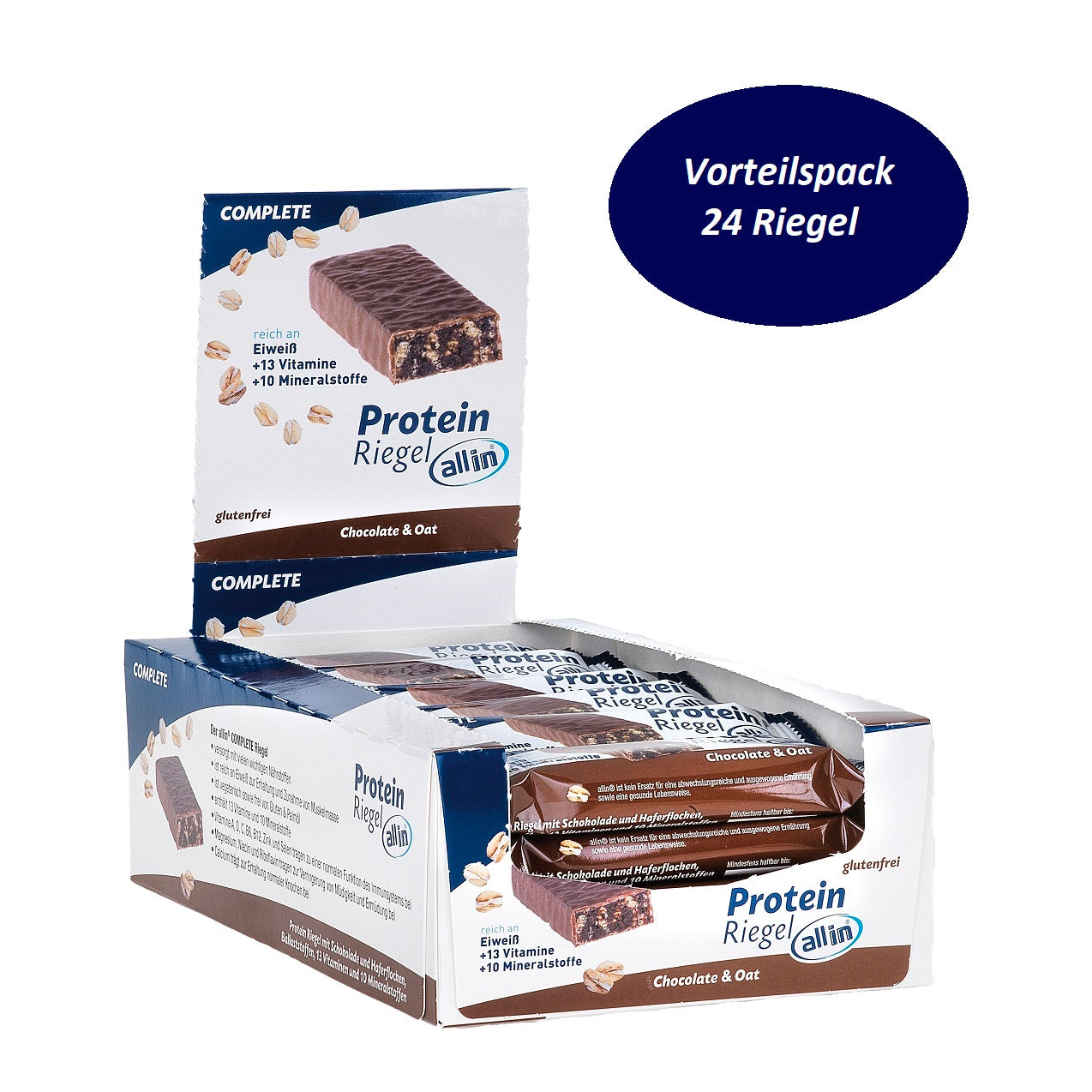 all in® COMPLETE Protein Riegel Chocolate & Oat (24 x 30g)