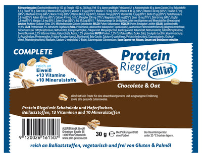 all in® COMPLETE Protein Riegel Chocolate & Oat (1 x 30g)