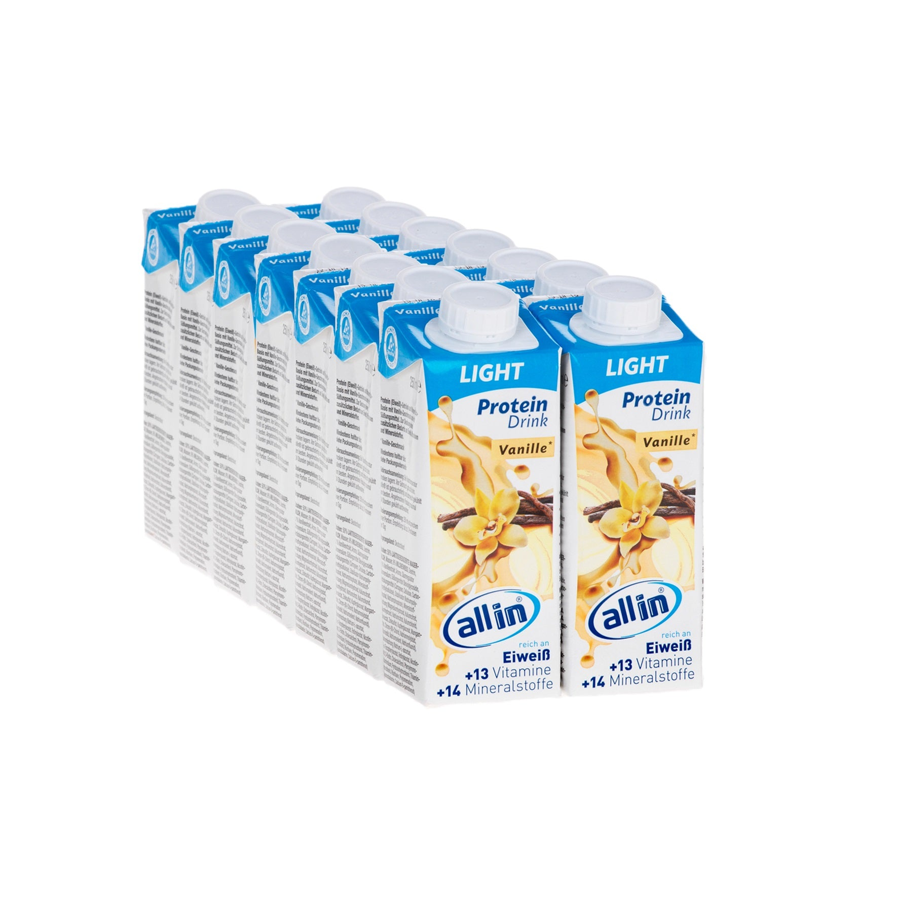 all in® LIGHT Vanille (14 x 250 ml)