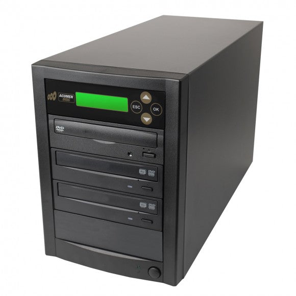 Acumen Disc 1 to 3 Supreme Duplicator - with 500GB Hard Drive to 3 DVD / CD Discs Copier (via USB 3.0)