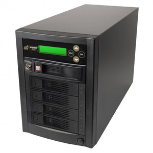Acumen Disc 1 to 4 Multiple Hard Drive Duplicator - (up to 150MB/s) SATA HDD & SSD Memory Card Copier & HDD Sanitizer (DOD Compliant)