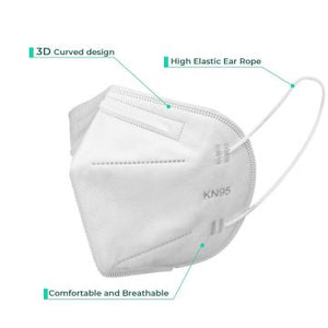 KN95 Folding Mask for Face Cover with Ear Loops (Box of 50)