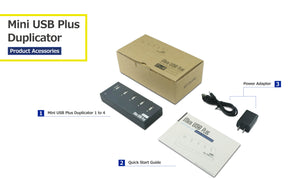 1 to 4 USB Duplicator - Multiple Flash Memory Pen Drives Compact Copier
