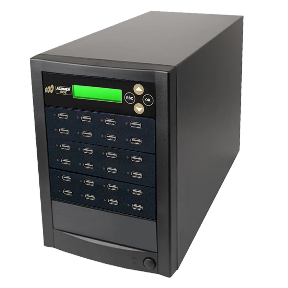 Acumen Disc 1 to 23 Multiple USB Drive Duplicator Flash Memory Copier / SSD / External Hard Drive Clone (Up to 35mbps) & Sanitizer (DoD Compliant)
