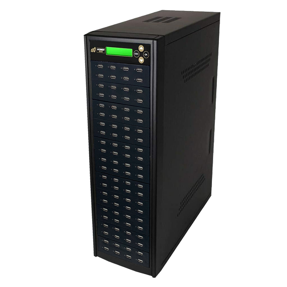 Acumen Disc 1 to 87 Multiple USB Drive Duplicator Flash Memory Copier / SSD / External Hard Drive Clone (Up to 35mbps) & Sanitizer (DoD Compliant)