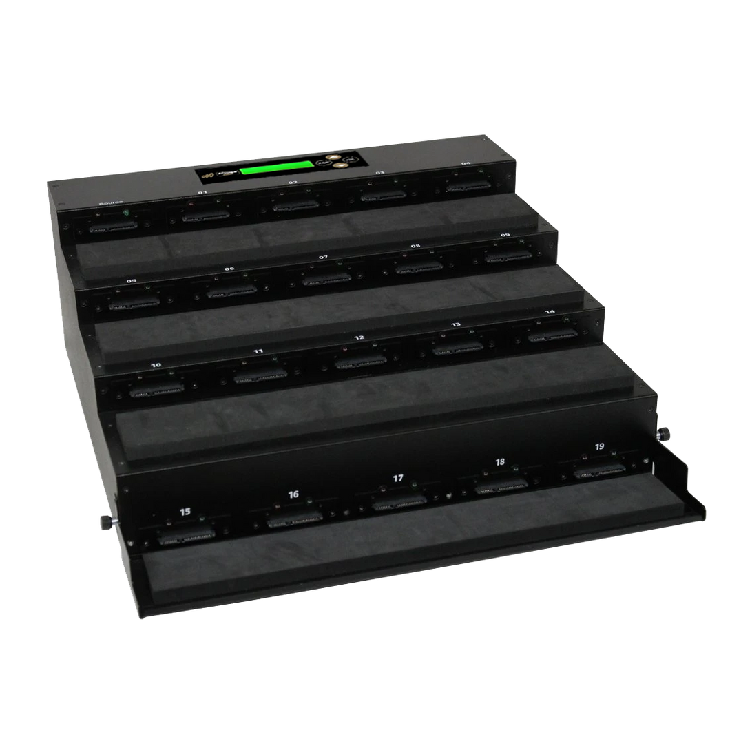 Acumen Disc 1 to 19 Flatbed SATA II Hard Drive Duplicator (up to 300MB/s) - Multiple HDD & SSD Memory Card Copier & HDD Sanitizer (DoD Compliant)