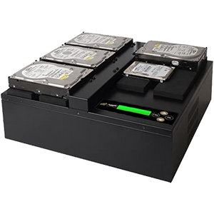 Acumen Disc 1 to 4 Flatbed SATA II Hard Drive Duplicator (up to 300MB/s) - Multiple HDD & SSD Memory Card Copier & HDD Sanitizer (DoD Compliant)