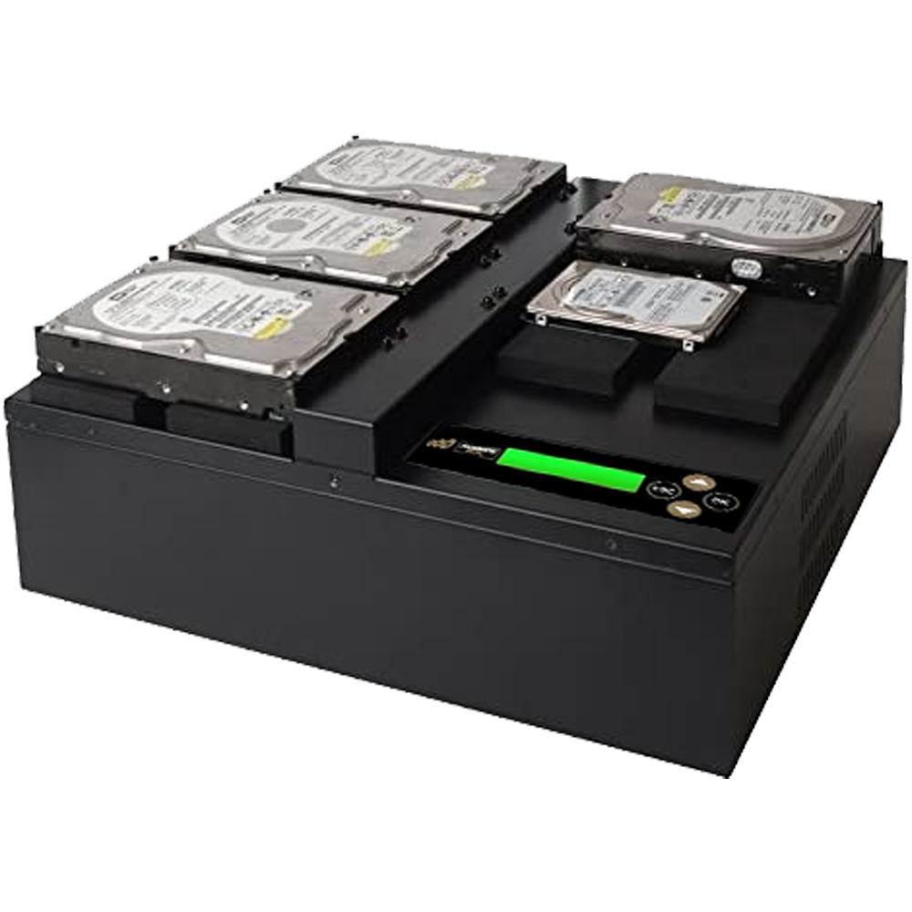 Acumen Disc 1 to 4 Flatbed SATA III Hard Drive Duplicator (up to 600MB/s) - Multiple HDD & SSD Memory Card Copier & HDD Sanitizer (DoD Compliant)