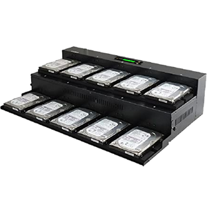 Acumen Disc 1 to 9 Flatbed SATA III Hard Drive Duplicator (up to 600MB/s) - Multiple HDD & SSD Memory Card Copier & HDD Sanitizer (DoD Compliant)