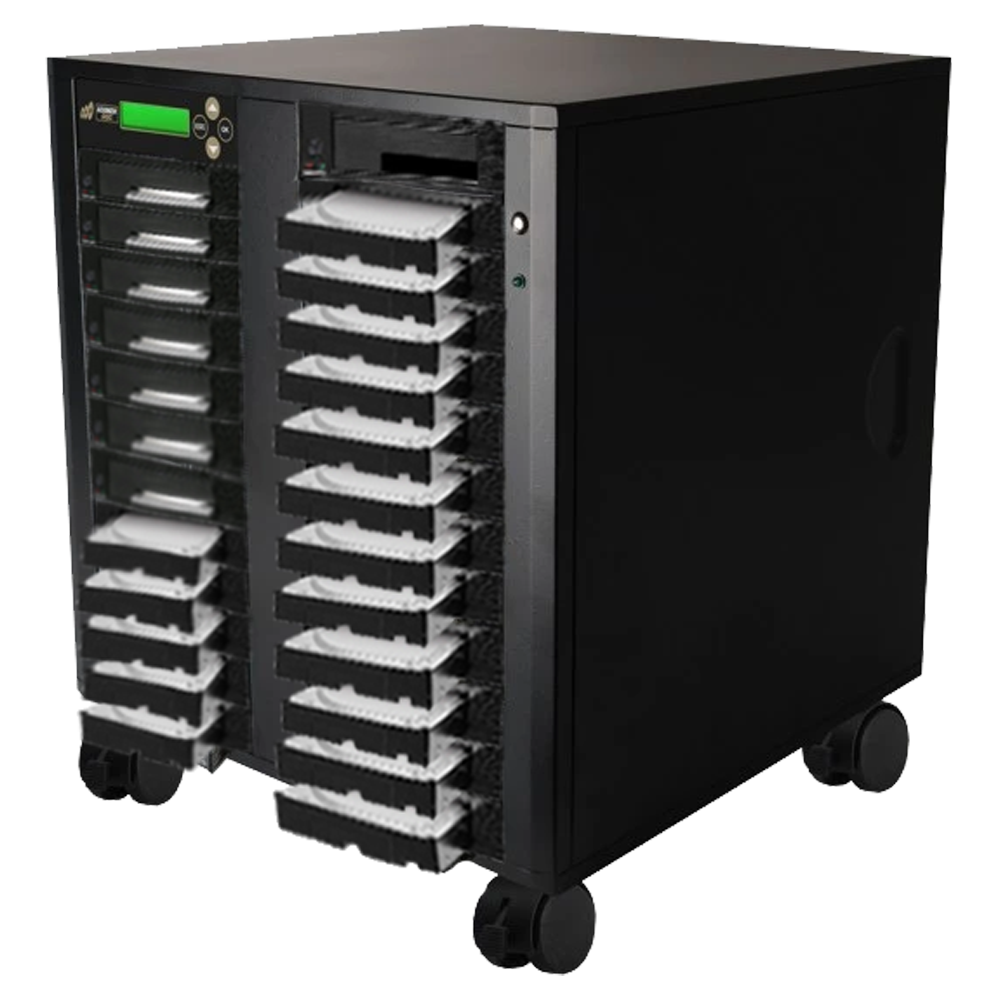 Acumen Disc 1 to 24 SATA II Hard Drive Duplicator (up to 300MB/s) - Multiple HDD & SSD Memory Card Copier & HDD Sanitizer (DoD Compliant)