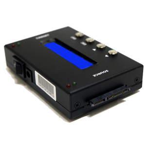 "1 to 1 SATA Hard Drive Duplicator - 3.5"" & 2.5"" HDD Cloner (up to 150MB/s) & SSD Storage Copier with DoD Compliant Data Eraser"