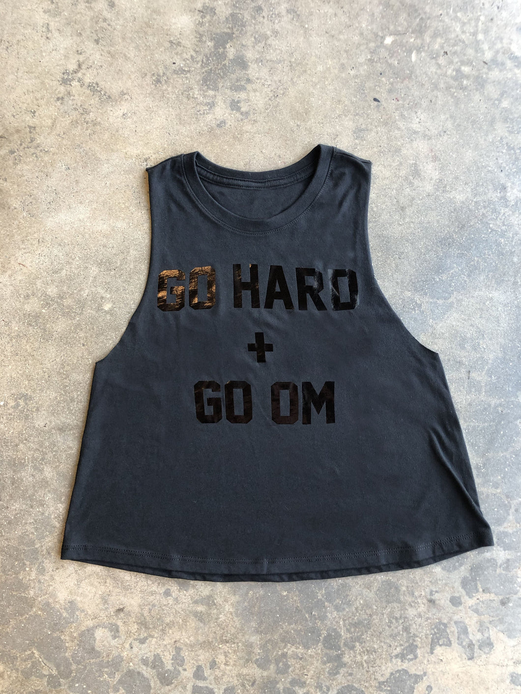 Go Hard & Go Om - Cropped Muscle Tank