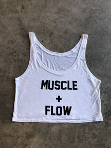 Muscle + Flow - Flowy Cropped Tank