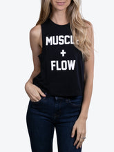 Load image into Gallery viewer, Muscle + Flow - Cropped Muscle Tank