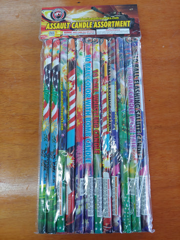 Roman Candle Assortment 12 pk