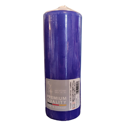 Occasional Blue Pillar Candle 70mm X 200mm
