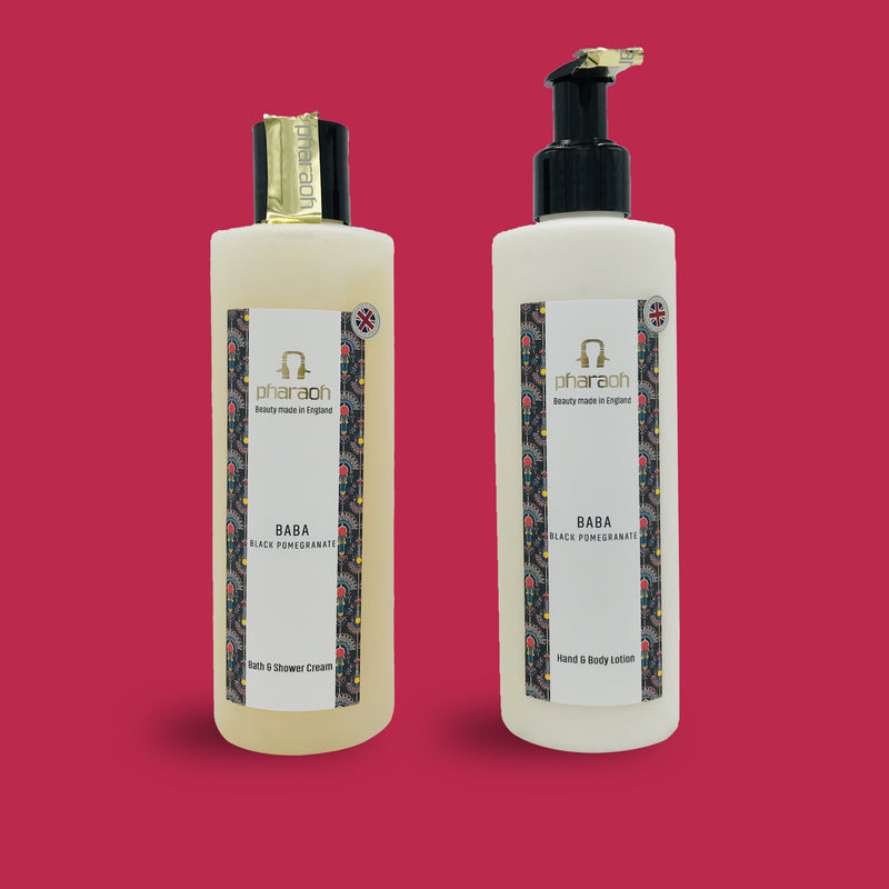 Pharaoh London Cosmetics | beauty made in England TWIN PACK Hand & Body Wash £25