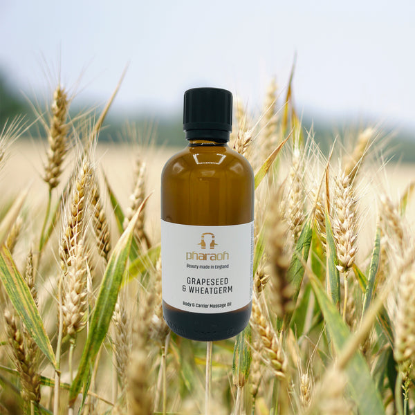 Grapeseed & Wheatgerm Bath & Massage Oil 100ml discover beauty made in England | Pharaoh London Cosmetics