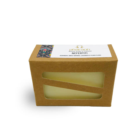 Nefertiti Organic Cold Pressed Soap 150g | beauty made in EnglandHampers Gift Packs Luxury Shea Cocoa Butter, Body Sugar Scrubs, Cold Pressed Organic, Argan Body Oil, Luxury Bath & Shower Cream, Shea Cocoa Butter Body Cream, discover beauty made in England, Pharaoh London Cosmetics UK ltd