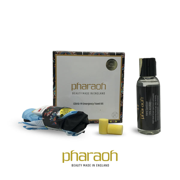 Hand Sanitiser Collection PROMOTION + Travel Pack discover beauty made in England   Pharaoh London Cosmetics