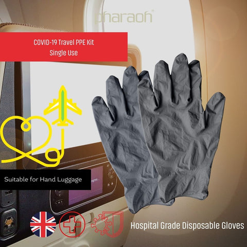Emergency Travel PPE Kit - Pharaoh London Cosmetics UK Ltd | discover beauty made in England