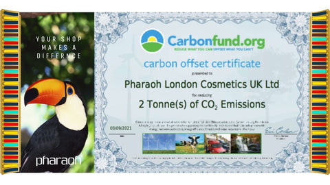 The Carbon Fund - your shop makes a difference | Pharaoh London Cosmetics UK