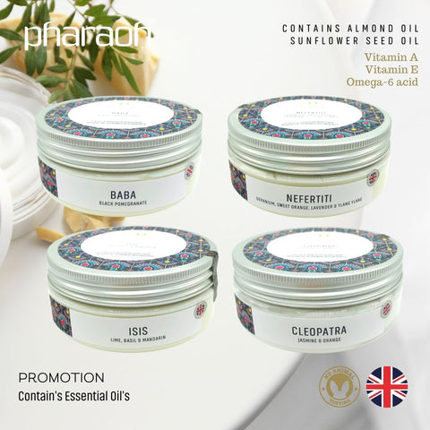 Shea COCOA Butter Body Cream Pack 800g - Pharaoh London Cosmetics UK Ltd - discover beauty made in England