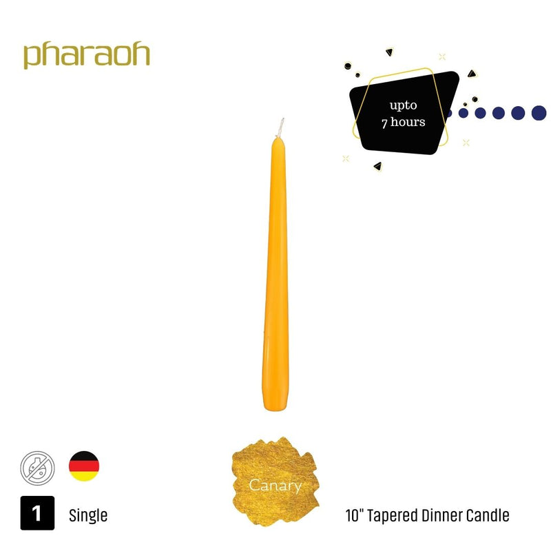 "Canary 10"" Tapered Dinner Candle 