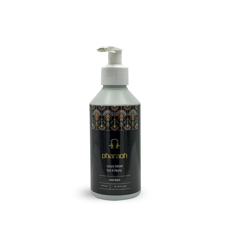 Luxury Velvet Peony & Oud Hand Wash 250ml - Luxury Rich Shea Cocoa Butter Cream Twin Hamper Gift Pack 200g Pharaoh London Cosmetics UK | discover beauty made in England