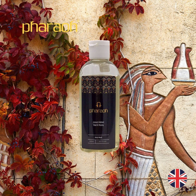Velvet Peony & Oud Body Wash 250ml | Pharaoh London Cosmetics - discover beauty made in England