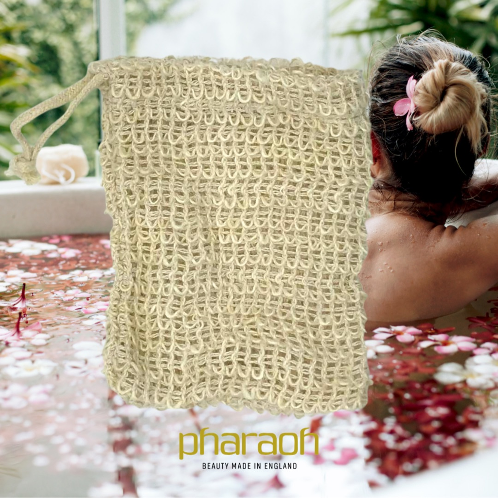 Exfoliating Soap Cotton Bag - Pharaoh London Cosmetics UK Ltd