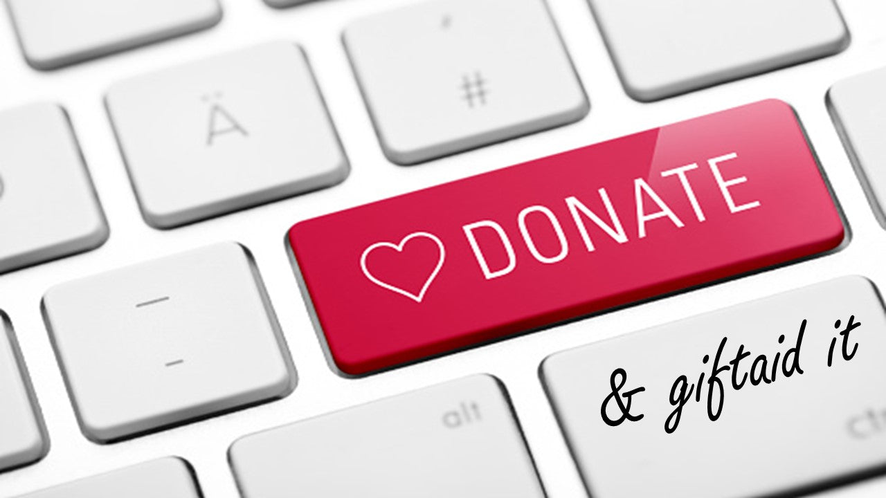 donate button on laptop