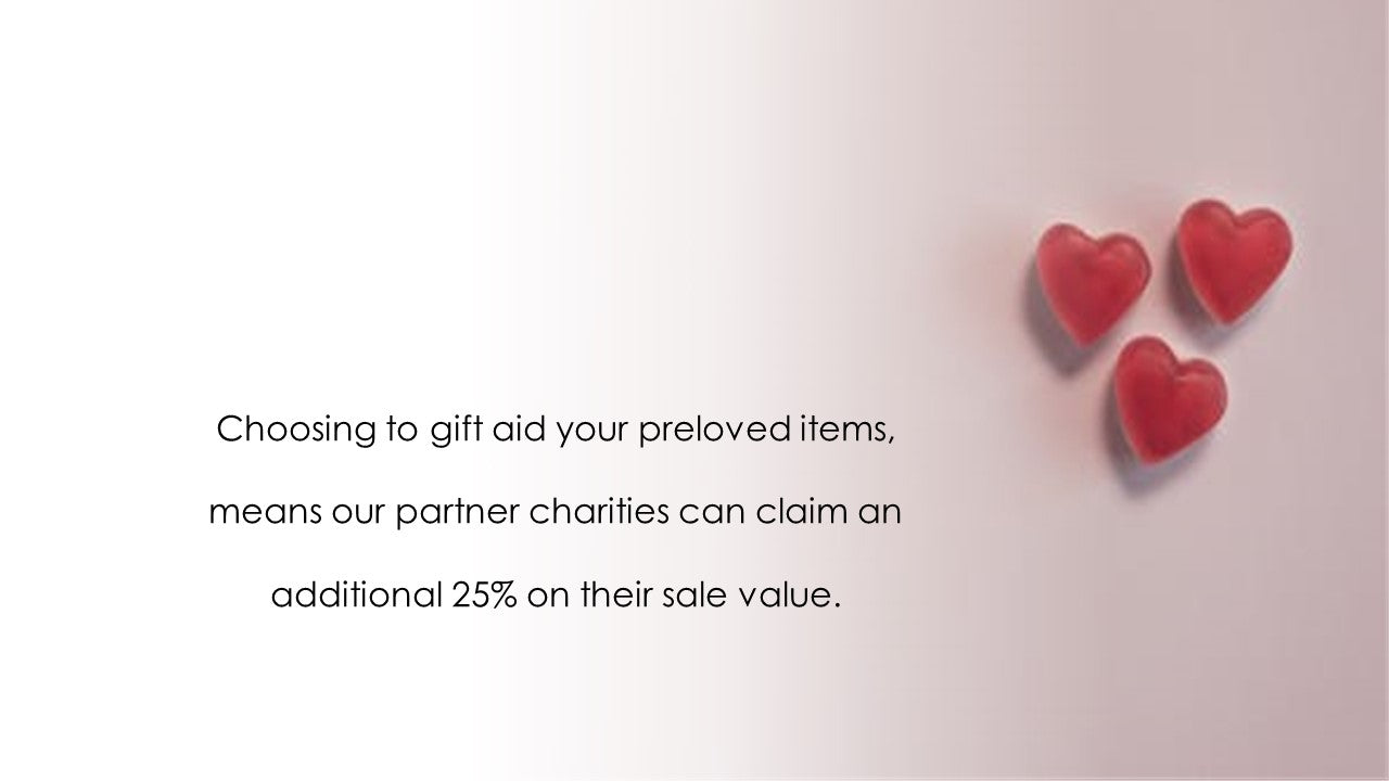 pink hearts with gift aid explanation