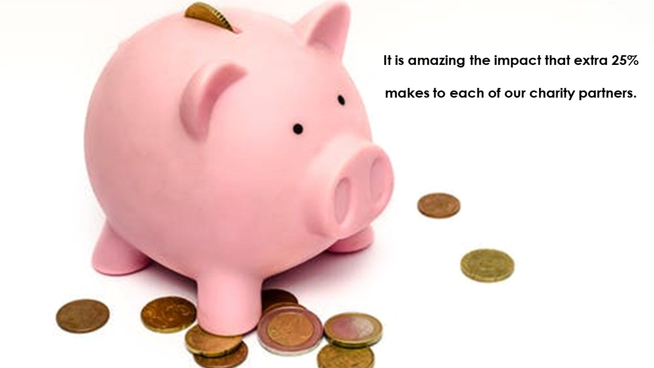 piggy bank with loose change