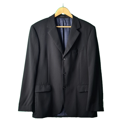 A Navy blazer with blue pin striped detailing from Givenchy