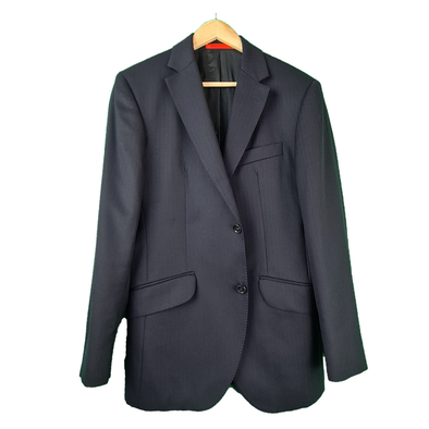 A navy blazer with a subtle herringbone design from Hackett London
