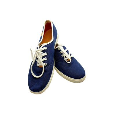 Blue & white plimsole casual shoes with lace fastening from Hotter