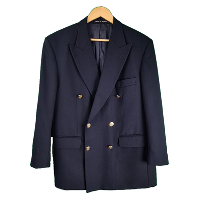 Navy double breasted blazer with detailed buttons from Pringle