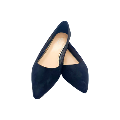 Black suedette slip on flat shoes from Kurt Geiger