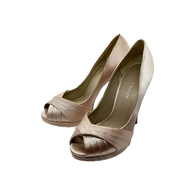 Silk Ivory slip-on heels from Karen Millen