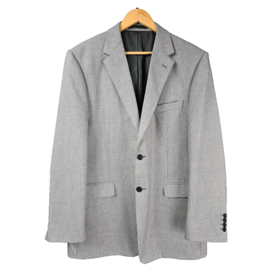 Grey dog tooth design classic fit men's blazer from M&S